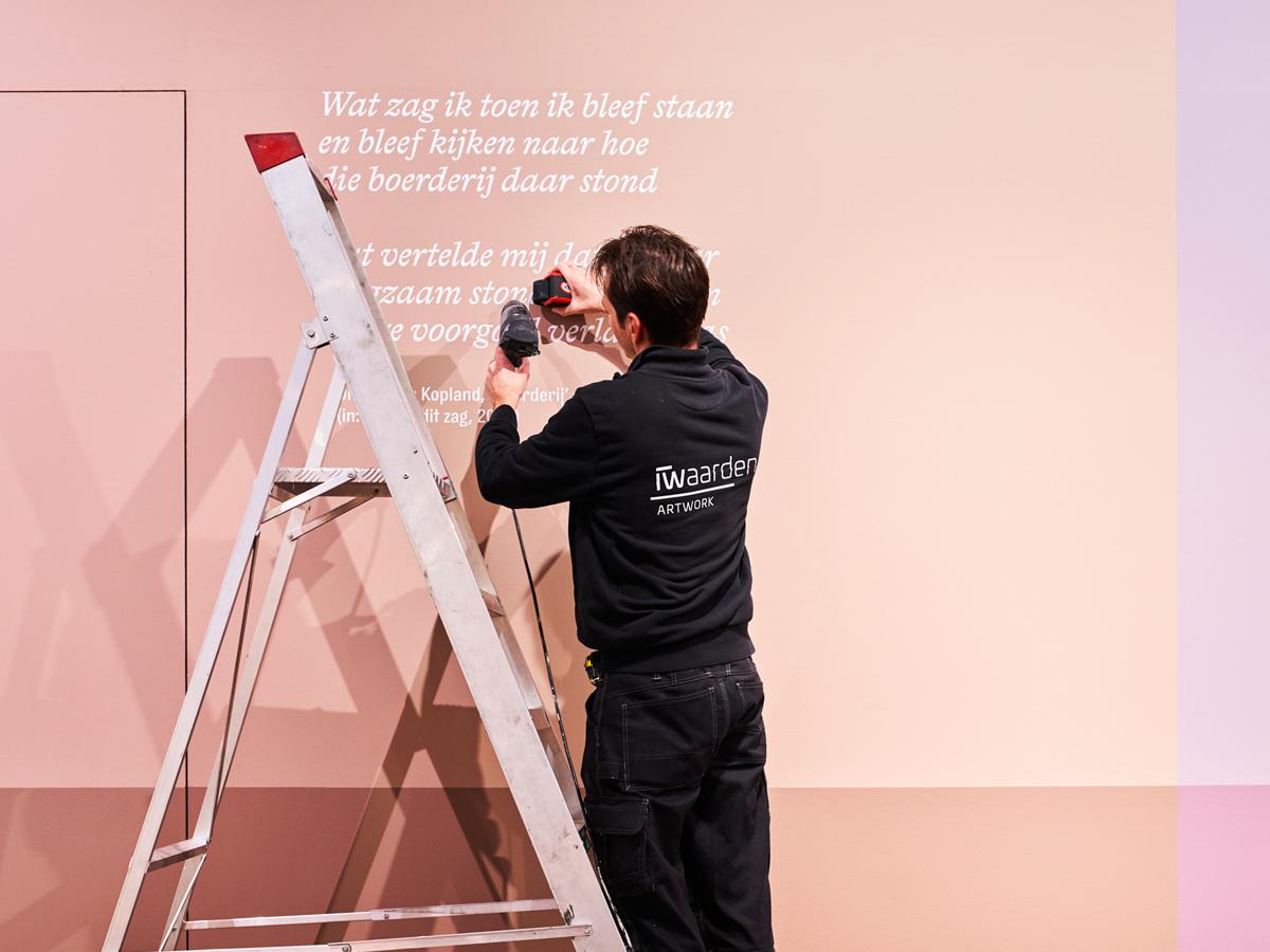 tentoonstelling in het stedelijk museum in Alkmaar, door iwaarden