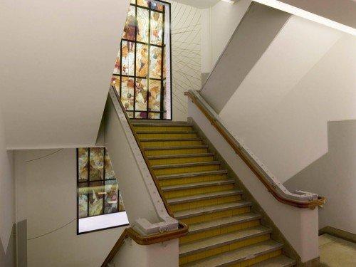 Iwaarden Artwork - art project, Kunstproject - Kunstwerk Niek Kemps op ramen Het Sieraad Amsterdam