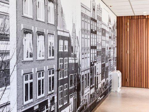 interieur renovatie met interieurfolie, restyle kastenwand met print op deuren