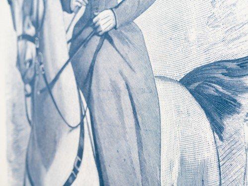 Decoraties op wanden Hollandsche Manege Amsterdam door Iwaarden als bijzondere transfertechniek, print op behang en schildering