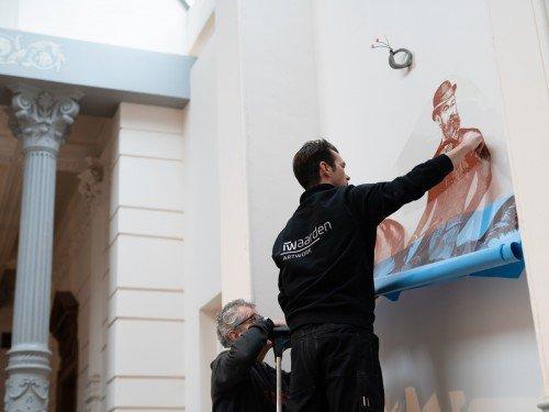 direct wallprint - tattoowall - transfer op wand - digitale fresco