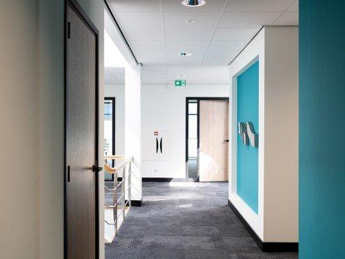 Iwaarden project Impex Barneveld, signing, bewegwijzering, gevelstyling en autobelttering. signing, wayfinding, exterior signage and vehicle graphics