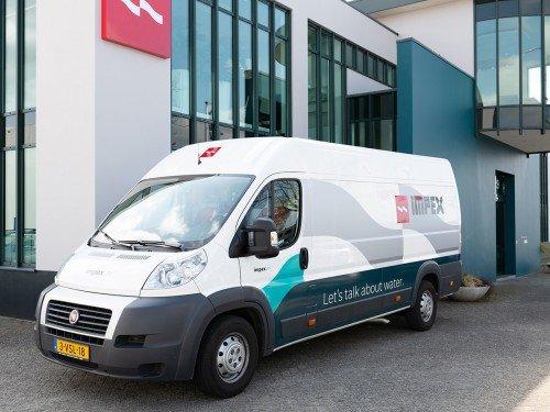 Signing Impex Barneveld met bewegwijzering, gevelreclame en autobelettering, wayfinding, exterior signage and vehicle graphics