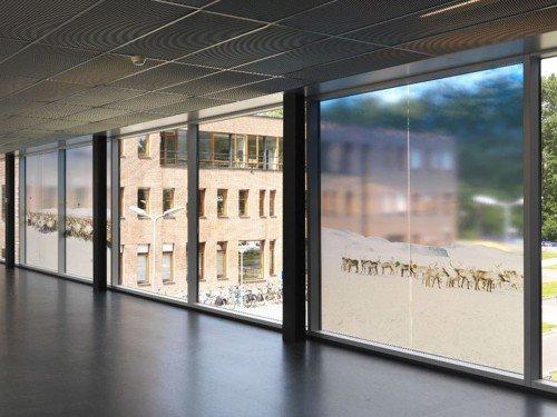 Kunstwerk Scarlett Hooft Graafland op ramen Ziekenhuis AMC, artwork