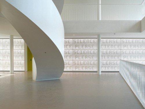 Akoestisch kunstwerk van Martijn Sandberg in Universiteit Leiden, acoustic artwork