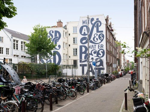 Iwaarden Artwork - art project, Kunstproject - muurschildering Piet Parra
