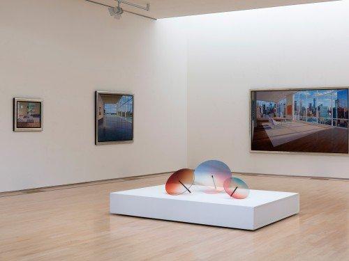 Artwork gemaakt door Rive Roshan in het JanVanDerTogtMuseum, de colourwheels, kunstwerk neergezet door Iwaarden
