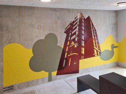 Iwaarden, direct wallprint, Rochdale. Artwork