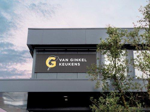 Gevelreclame exterior signage, voor Van Ginkel Keukens, Barneveld