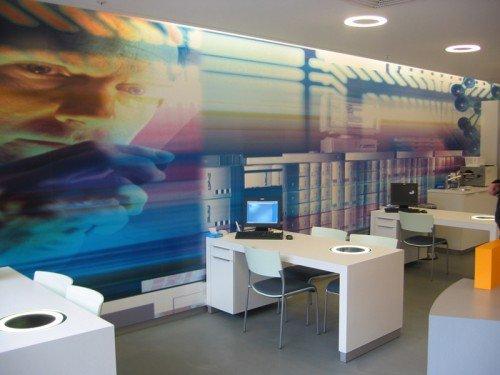signing - xl printing, groot formaat print, wanddecoratie naadloos behang op muur