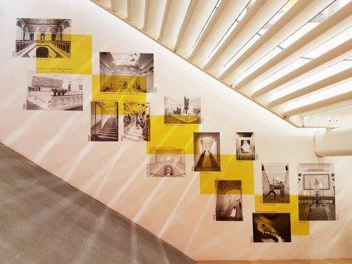 Wandbekleding - wallcovering, collage van behang op wand - Stedelijk Base - Stedelijk Museum Amsterdam