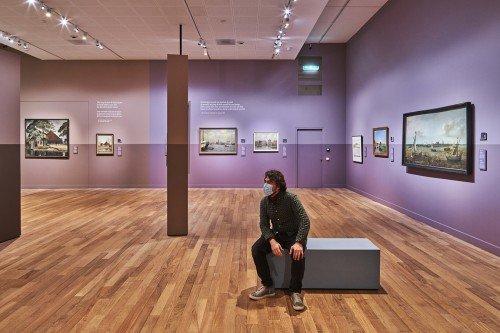 signing en decoraties by Iwaarden artwork voor tentoonstelling stedelijk museum Alkmaar