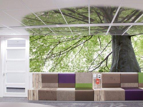 Iwaarden Interior - Plafonddecoratie met print op plafondplaten, ceiling graphics