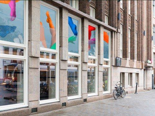 Groot formaat print op glas, print-to-glass, Hotel citizenM-Amsterdam-Amstel, Iwaarden