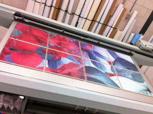Groot formaat print op plaat, Print-to-plate, Print-to-plate, printen op plafondlaat rijmstate, Iwaarden