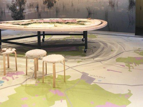 Groot formaat print op vloer, print-to-floor, print op vloer, foto op vloer, vloersticker, vloerprint, Bezoekerscentrum Dwingelerveld, Iwaarden