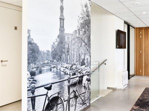 Van delen in Barneveld, print op wand, een fotobehang op kantoor fotowand met print. Door Iwaarden