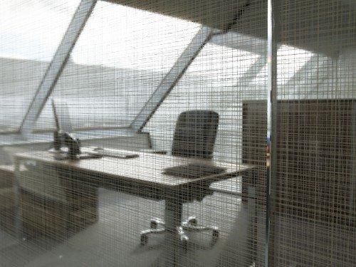 Iwaarden interior - window graphics - glasdecoratie - privacy en sfeer op kantoor met glasfolie 3M fasera