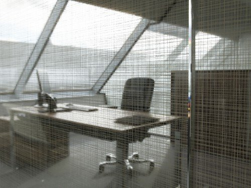 Iwaarden interieur - glasdecoratie - privacy en sfeer op kantoor met glasfolie 3M fasera
