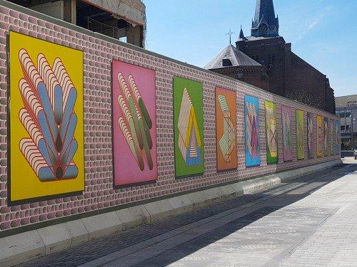 Artwork, design op sigridcalon in Tilburg, art print , print op plaat, maakt een digitalscreenprint print to plate, gemaakt door Iwaarden