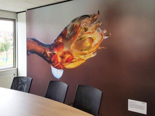 wandbekleding voor kantoor - window graphics, wallcovering, seamless wallpaper, textile frame, naadloos behang en textielframe