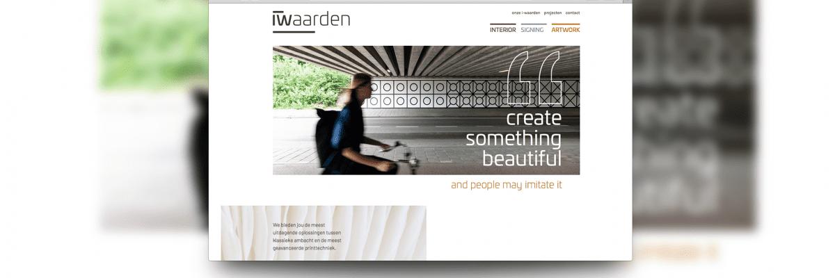 nieuwe website van iwaarden, gemaakt door burobeeldend