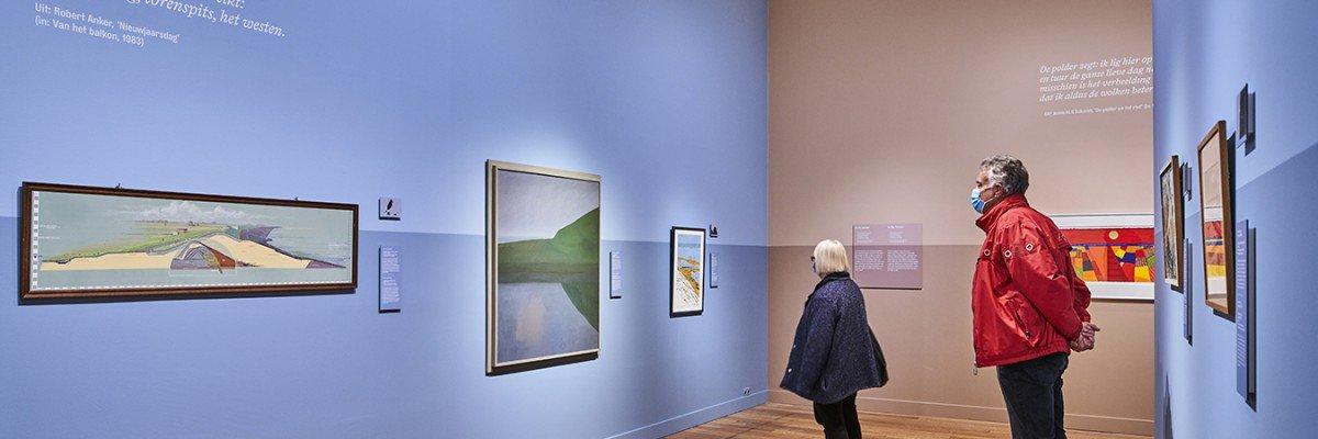 Informatiepanelen en geschllderde teksten door Iwaarden voor Tentoonstelling 'Weids!' Stedelijk Museum Alkmaar