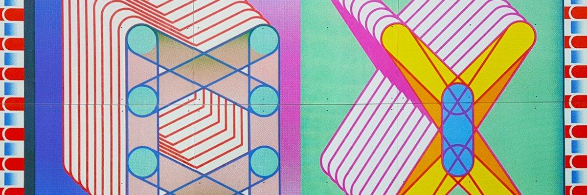Kunst in de openbare ruimte - Mural van kunstenaar Sigrid Calon in groot formaat print op wanden van passage in Tilburg