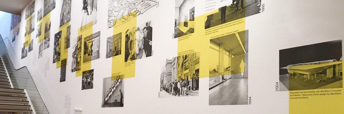 Wall decoration - collage of wallpaper on wall - Stedelijk Base - Stedelijk Museum Amsterdam