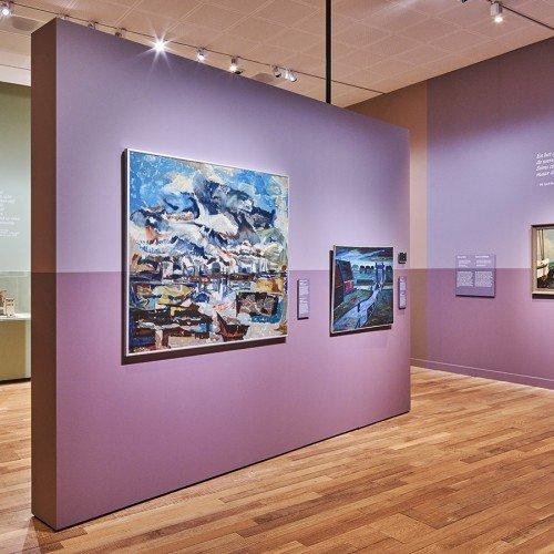 Information panels and painted texts by Iwaarden for Exhibition 'Weids!' Stedelijk Museum Alkmaar