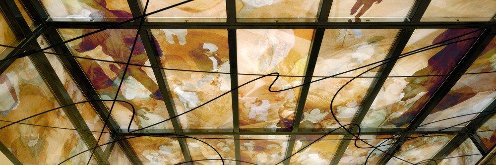 groot formaat printen op glas, kunstwerk met glas, Niek Kemps, sieraad Amsterdam, mogelijk gemaakt door Iwaarden
